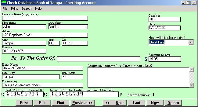 Check Printing Software 2000 Support FAQ